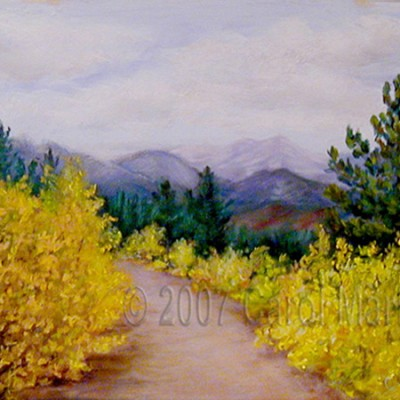 Aspen Path - pastel painting
