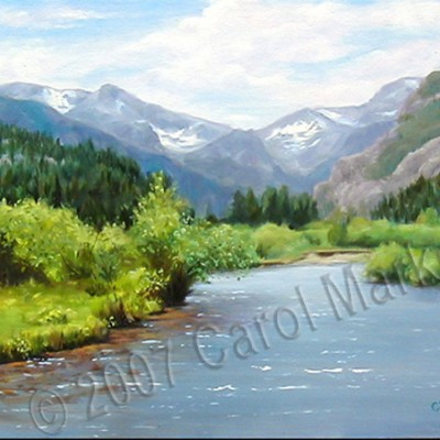 Peaceful Stream - oil painting (sold)