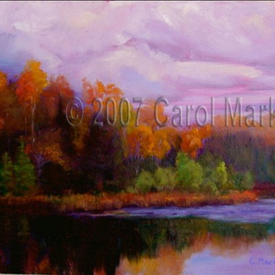 Fall Reflections - oil painting