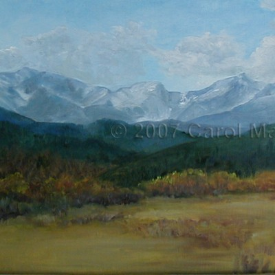 Fall Mountain Meadow - oil painting
