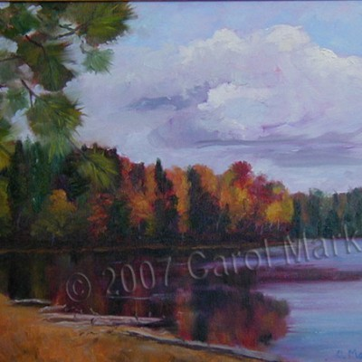 Fall at the Lake - oil painting