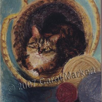 Katze - Pastel painting