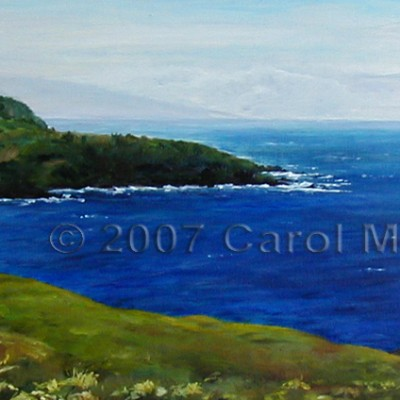 Cool Maui Blue - oil painting