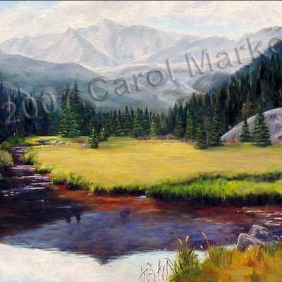 Mills Lake - oil painting