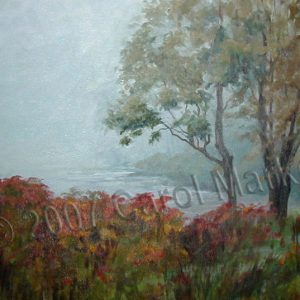 Misty Morning - oil painting