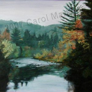 Northwoods River - oil painting