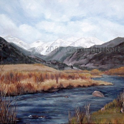 Moraine Park - oil painting