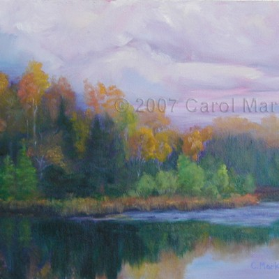 Autumn Purple - oil painting