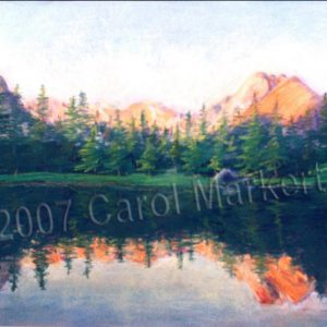Mountain Sunset -  Pastel Painting