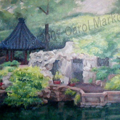 China Tea Garden - oil painting