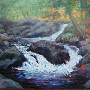 Little Waterfall - oil painting